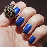 Manucure : Bleu de biais