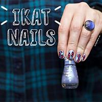 Manucure : Ikat nails