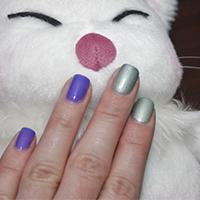 Manucure : Violet argenté