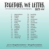 Together We Letter Juillet 2016