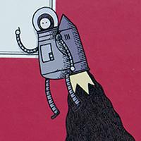 Vous êtes tous jaloux de mon jetpack - Tom Gauld