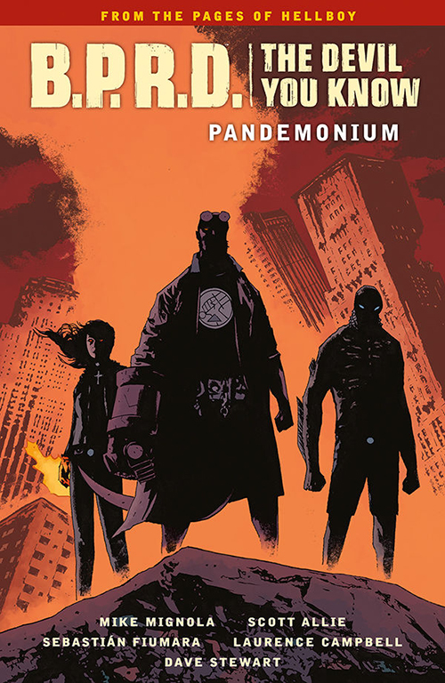 Couverture du comics B.P.R.D. The Devil You Know 2: Pandemonium de Mike Mignola, Scott Allie, Sebastian Fiumara, Laurence Campbell, Dave Stewart