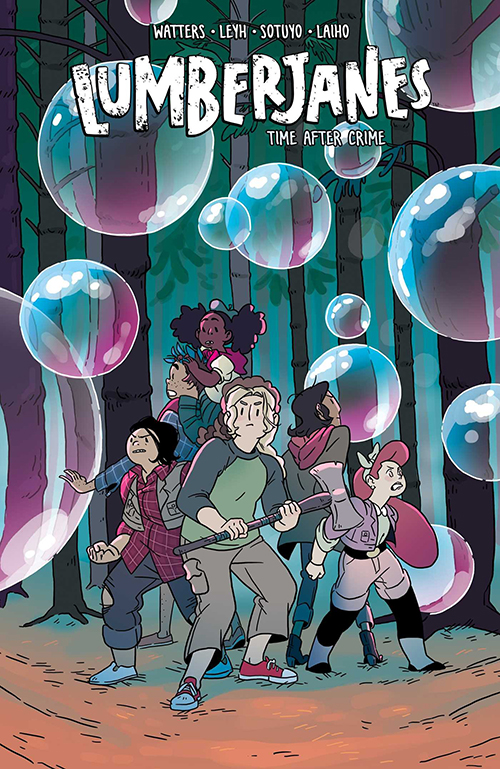 Couverture du comics Lumberjanes 11: Time After Crime de Shannon Watters, Kat Leyh, Ayme Sotuyo